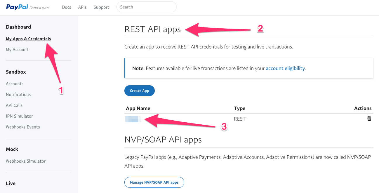 how to get paypal api credentials 2018