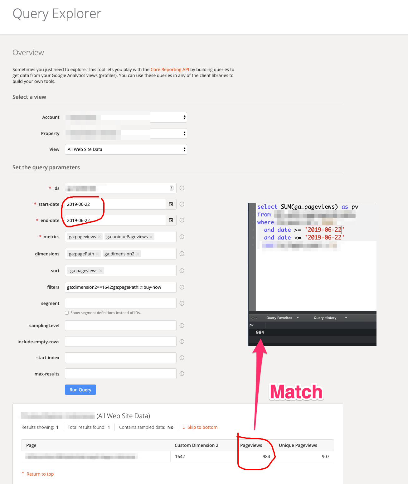 Google Analytics pageviews compare - 2019-06-22